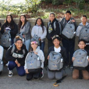 Student picture showing their backpacks